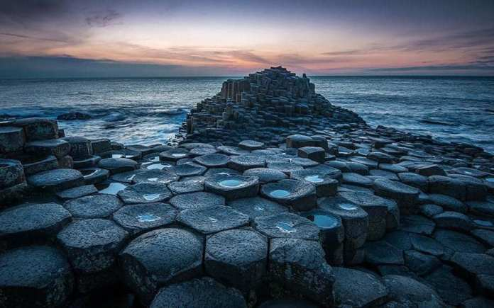 Giants Causeway located in Northern Ireland
