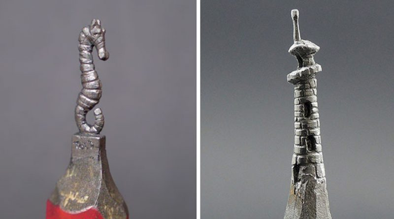 Talented Artist Remodels Pencils Into Awesome Miniature Works Of Art